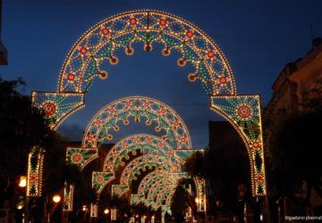 le luminarie della Festa della Bruna, Matera